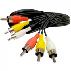 Cable 3 Rca macho a 3 Rca...