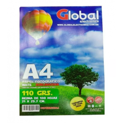 Papel Mate Global A4  x 100...