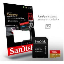 Memoria MICROSD 64GB CLASE...